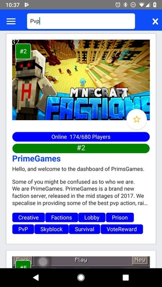 Minecraft PE Server List APK 1 0 22 - download free apk from