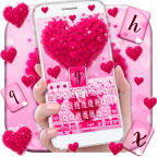 Pink Love Heart Keyboard Theme APK