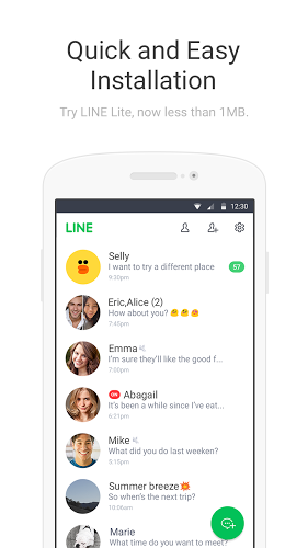 LINE Lite 2.0.1 apk screenshot