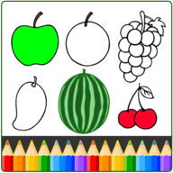 Fruit and vegetables Coloring Book APK
