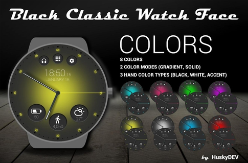 Black Classic Watch Face APK 1 63 - download free apk from