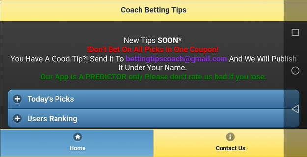 Betting Tips Coach APK 2 0 3 - download free apk from APKSum