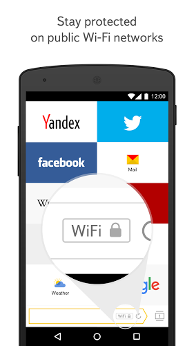 Yandex Browser 18.1.1.645 apk screenshot