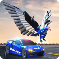 US Police Transform Robot Car Cop Eagle Game APK