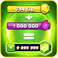 Gems and Gold calc for coc APK