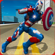 Flying Superhero Captain Robot APK
