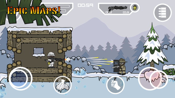 Mini Militia 4.0.7 apk screenshot