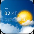 Transparent weather clock APK