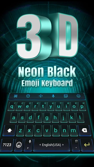 3D Neon Hologram Black Keyboard Theme APK v1 0 - download