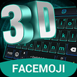 3D Neon Hologram Black Keyboard Theme APK