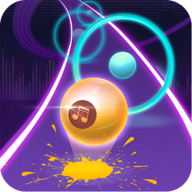 Dancing Neon Ball Rush Road APK