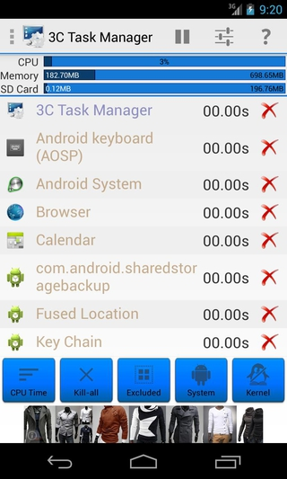 3C Task Manager APK 3 1 3 - download free apk from APKSum