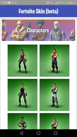 fortnite skin 1 8 apk screenshot fortnite skin 1 8 apk screenshot - all green skins fortnite