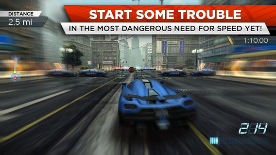 NFS Most Wanted 1.3.69 apk screenshot