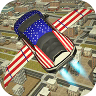 Free Flying Racing Car Driving APK