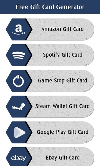 Free Gift Card Generator APK 1 1 - download free apk from APKSum