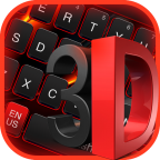 3D Black Red Keyboard APK