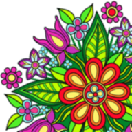 Flower Mandala Coloring Book APK