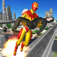 Flame Man Flying Super Hero: City Rescue Mission APK