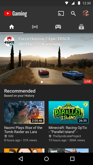 YouTube Gaming APK 2 10 7 6 - download free apk from APKSum