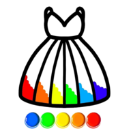 Glitter Dress coloring APK