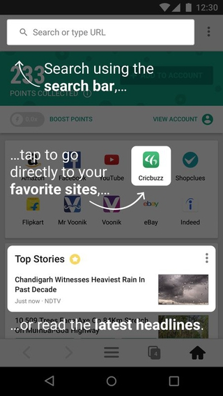 mCent Browser APK 0 13 - download free apk from APKSum