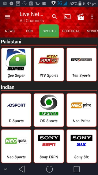 Live NetTV Android APK 4 6 - download free apk from APKSum