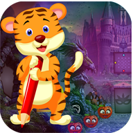 Best Escape Game 496 Writing Tiger Rescue Game APK
