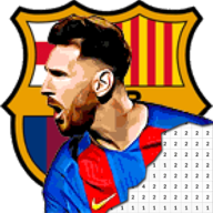 Football Logo Club Color By Number - Pixel Art APK