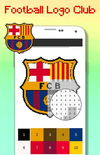 Football Logo Club Color By Number Pixel Art Apk 101