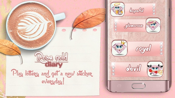 Cute Rose Gold Diary App APK 3 0 - download free apk from APKSum