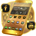 Neon Gold Theme For Launcher APK