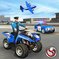 US Police ATV Quad Bike Transport Cargo Plane Game APK
