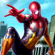 Flying Amazing Iron Spider Superhero Fighting hting APK