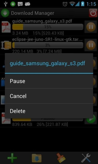Download Manager APK 1 2 5 - download free apk from APKSum