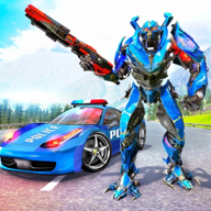Real Police Car Chase Robot APK